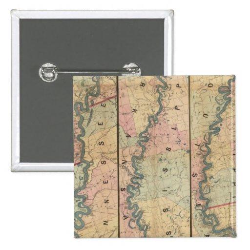 El mapa de Lloyd del río Misisipi más bajo Pins