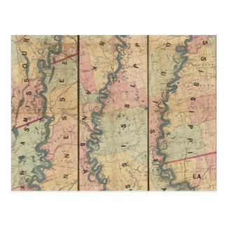 El mapa de Lloyd del río Misisipi más bajo Postales