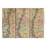El mapa de Lloyd del río Misisipi más bajo Tarjeta