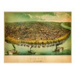 el mapa de los anicke de St. Louis (1859) Postal