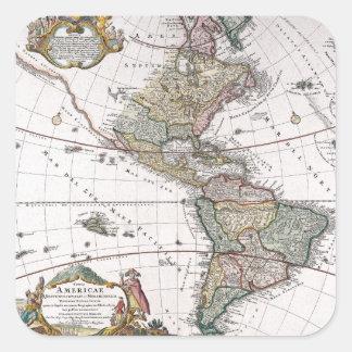 El mapa de los herederos de Homanns de las Pegatinas Cuadradases Personalizadas