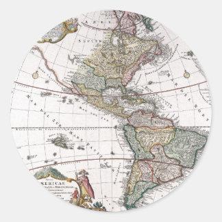 El mapa de los herederos de Homanns de las Pegatina Redonda