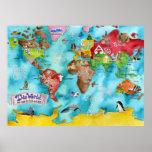 """El mapa de los niños de """"ESTE MUNDO de Marley Unga Poster"""