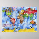 """El mapa de los niños de """"ESTE MUNDO de Marley Unga Impresiones"""