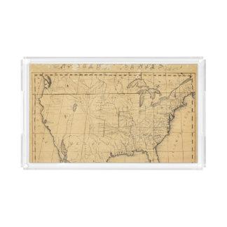 El mapa de los niños de los Estados Unidos Bandeja Rectangular