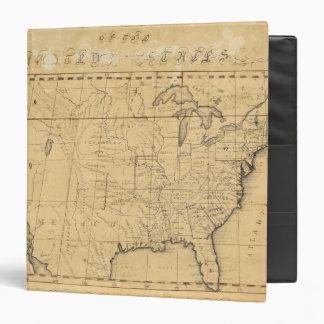 """El mapa de los niños de los Estados Unidos Carpeta 1 1/2"""""""