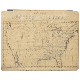 El mapa de los niños de los Estados Unidos Cover De iPad