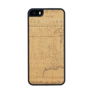 El mapa de los niños de los Estados Unidos Funda De Arce Carved® Para iPhone 5 Slim