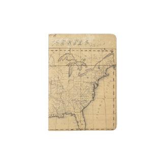 El mapa de los niños de los Estados Unidos Porta Pasaporte