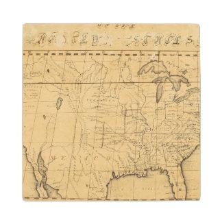 El mapa de los niños de los Estados Unidos Posavasos De Arce