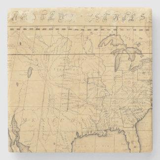 El mapa de los niños de los Estados Unidos Posavasos De Piedra