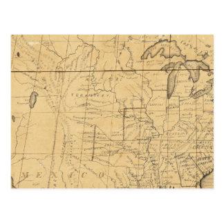 El mapa de los niños de los Estados Unidos Postales