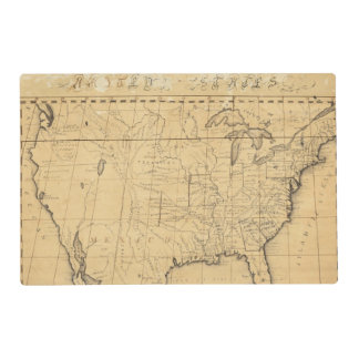 El mapa de los niños de los Estados Unidos Salvamanteles