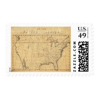 El mapa de los niños de los Estados Unidos Sello