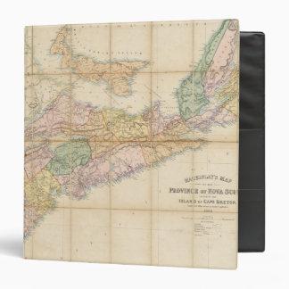 El mapa de Mackinlay de la provincia de Nueva Esco