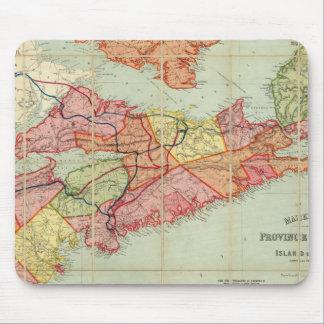 El mapa de Mackinlay de la provincia de Nueva Esco Alfombrillas De Raton