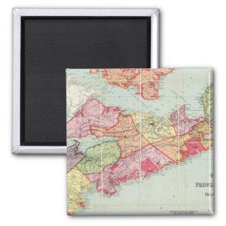 El mapa de Mackinlay de la provincia de Nueva Esco Imán Cuadrado