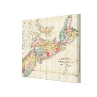 El mapa de Mackinlay de la provincia de Nueva Esco Impresión En Lienzo