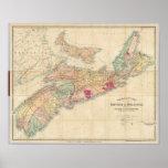 El mapa de Mackinlay de la provincia de Nueva Esco Posters
