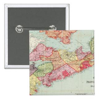 El mapa de Mackinlay de la provincia de Nueva Esco Pin Cuadrado