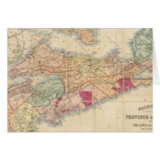 El mapa de Mackinlay de la provincia de Nueva Esco Tarjeta