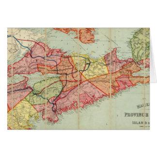 El mapa de Mackinlay de la provincia de Nueva Esco Felicitaciones