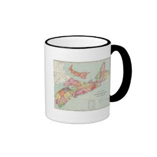 El mapa de Mackinlay de la provincia de Nueva Esco Tazas