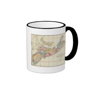 El mapa de Mackinlay de la provincia de Nueva Esco Taza De Café