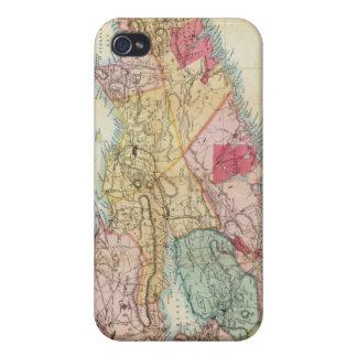 El mapa de Mackinlay de la provincia de Nueva iPhone 4 Carcasa