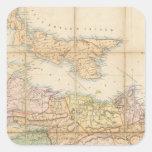 El mapa de Mackinlay de la provincia de Nueva Pegatina Cuadrada