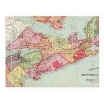 El mapa de Mackinlay de la provincia de Nueva Tarjeta Postal