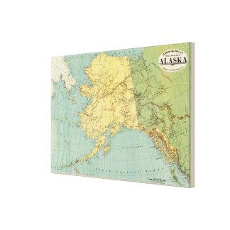 El mapa de McNally del rand de Alaska Impresión En Lienzo Estirada