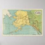 El mapa de McNally del rand de Alaska Póster