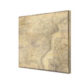 El mapa de Mitchell de los Estados Unidos Impresiones En Lona