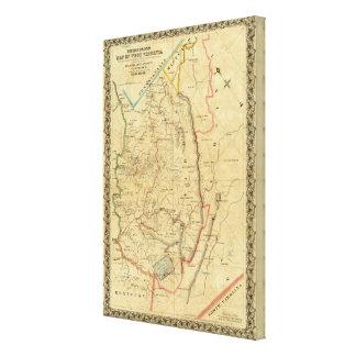 El mapa de Richardson de Virginia Occidental Impresión En Lienzo