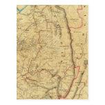 El mapa de Richardson de Virginia Occidental Postales