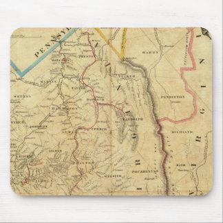 El mapa de Richardson de Virginia Occidental Alfombrillas De Raton