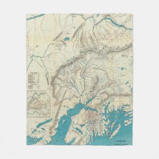 El mapa de Sleem de Alaska central Manta De Forro Polar