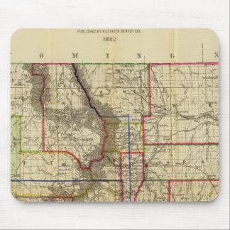 El mapa de Thayer de Colorado 2 Tapetes De Raton