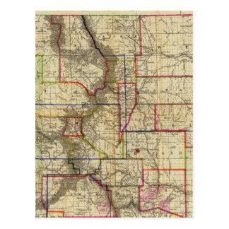 El mapa de Thayer de Colorado 2 Tarjeta Postal