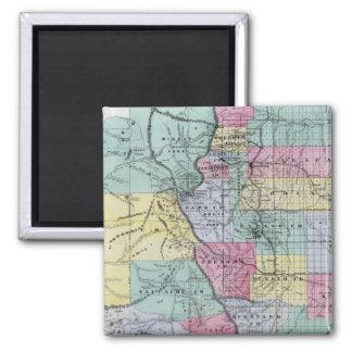 El mapa de Thayer de Colorado Imán Cuadrado