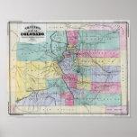 El mapa de Thayer de Colorado Impresiones