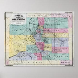El mapa de Thayer de Colorado Póster