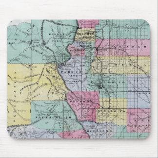 El mapa de Thayer de Colorado Tapetes De Ratones