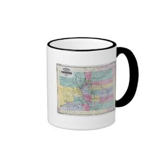 El mapa de Thayer de Colorado Taza De Café