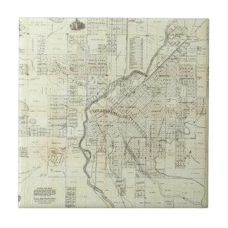 El mapa de Thayer de Denver Colorado Azulejo Cuadrado Pequeño