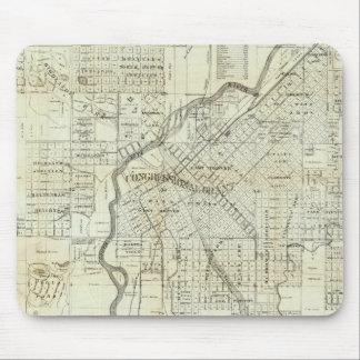 El mapa de Thayer de Denver Colorado Alfombrilla De Raton