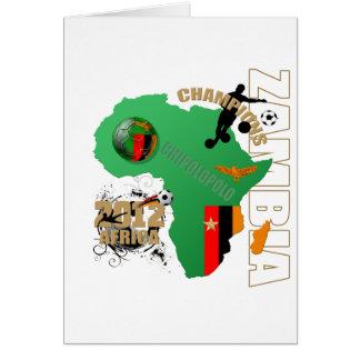 El mapa de Zambia zambiana de la bandera de África Tarjeta