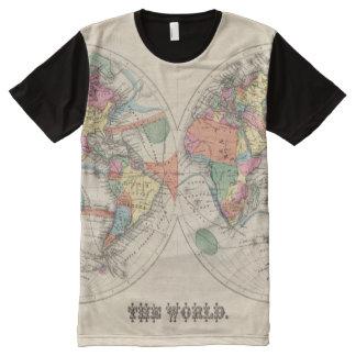 El mapa del atlas del mundo con las corrientes y