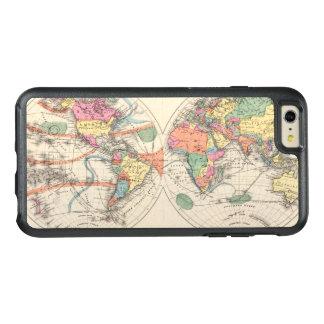 El mapa del atlas del mundo con las corrientes y funda otterbox para iPhone 6/6s plus